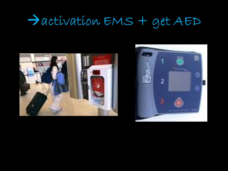  activation EMS + get AED