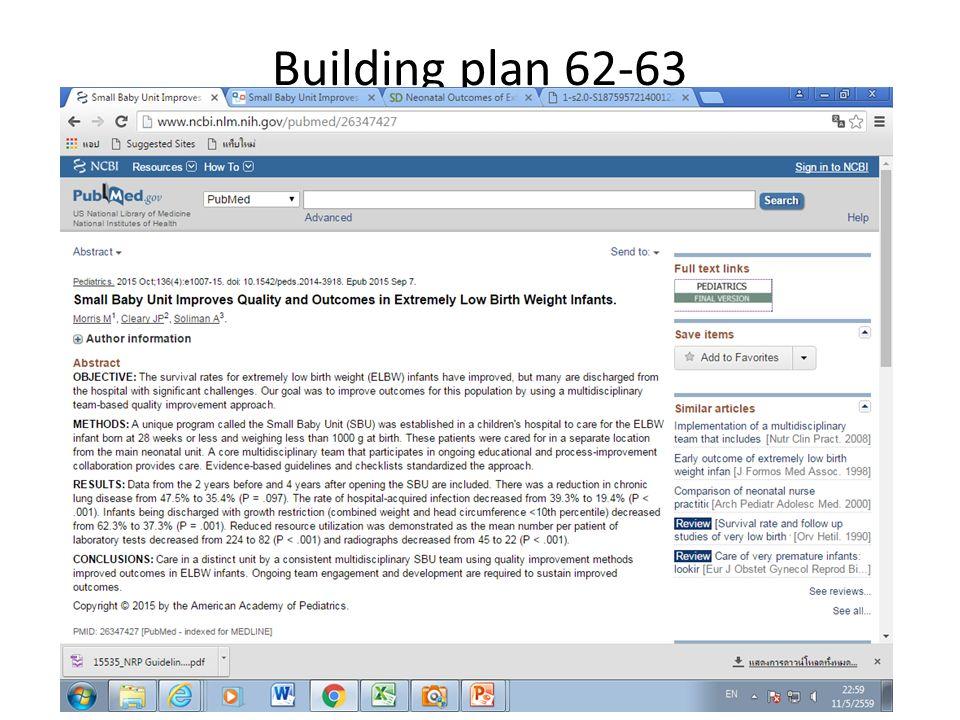 Building plan 62-63