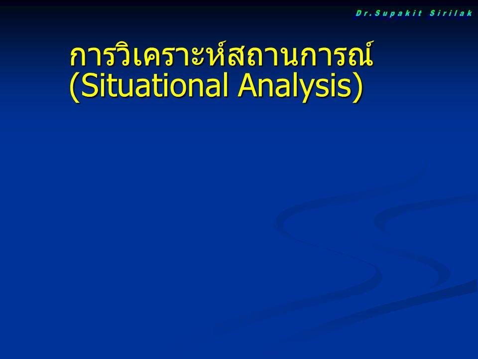 การวิเคราะห์สถานการณ์ (Situational Analysis)
