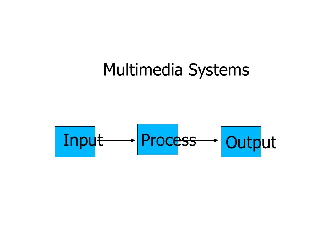 Multimedia Systems Input ProcessOutput