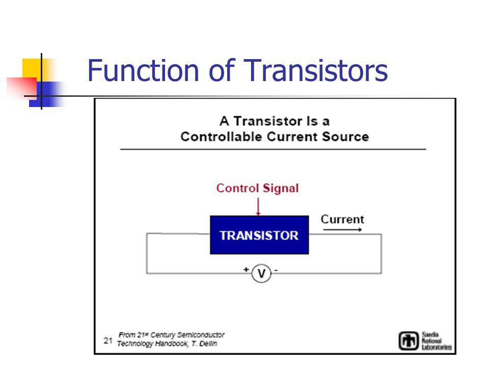 Function of Transistors