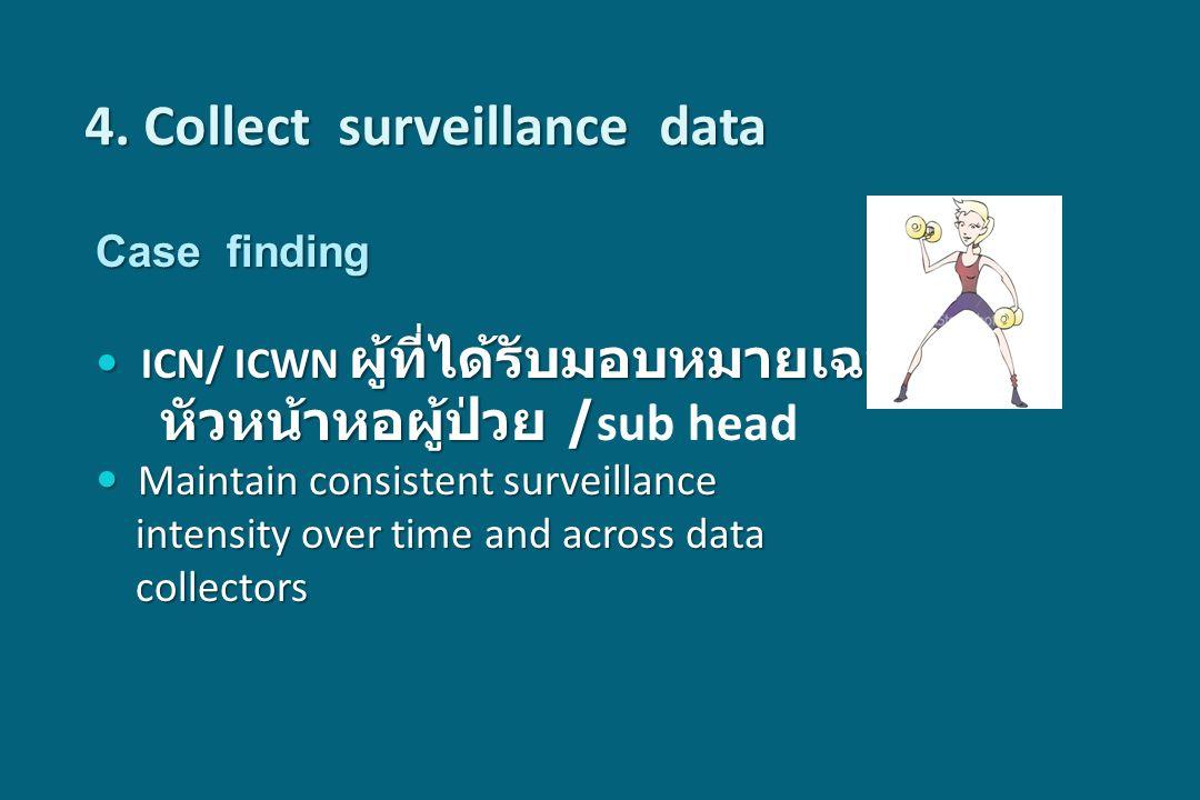 Case finding ICN/ ICWN ผู้ที่ได้รับมอบหมายเฉพาะ ICN/ ICWN ผู้ที่ได้รับมอบหมายเฉพาะ หัวหน้าหอผู้ป่วย / หัวหน้าหอผู้ป่วย / sub head Maintain consistent