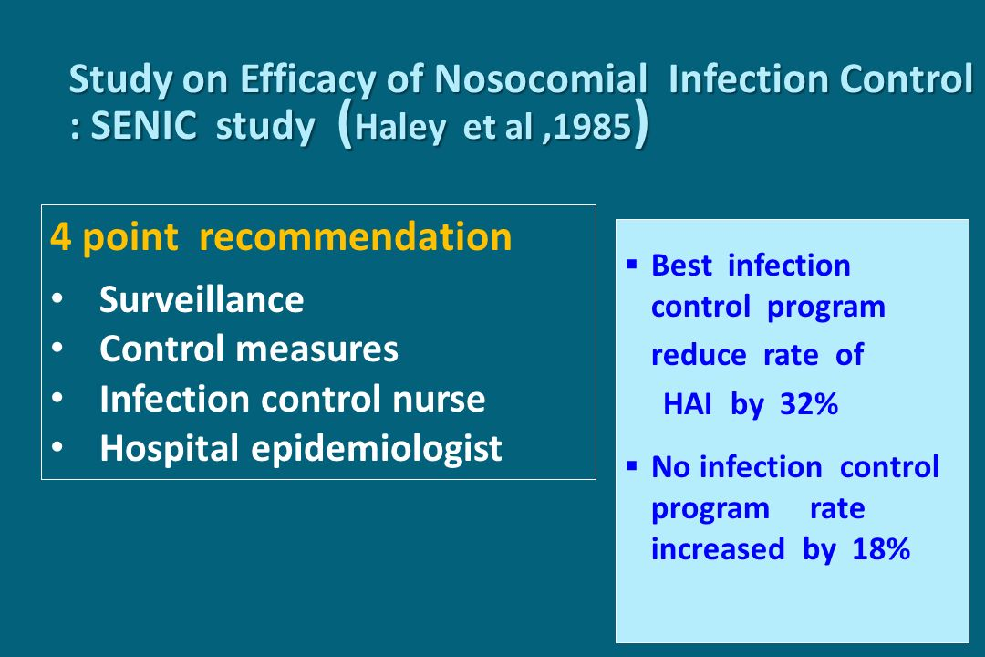 Surveillance CollectingTabulatingAnalyzingReporting Processes Steps to achieve the outcome Outcome Result of Care Hand HygieneInfection rate