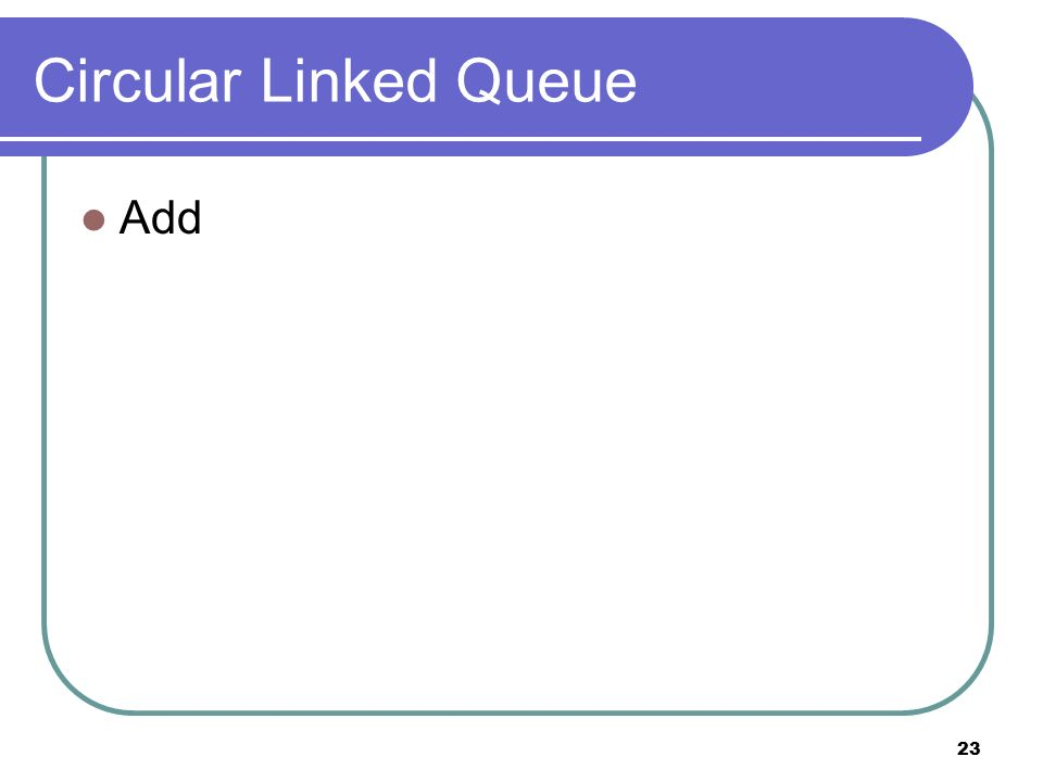 23 Circular Linked Queue Add