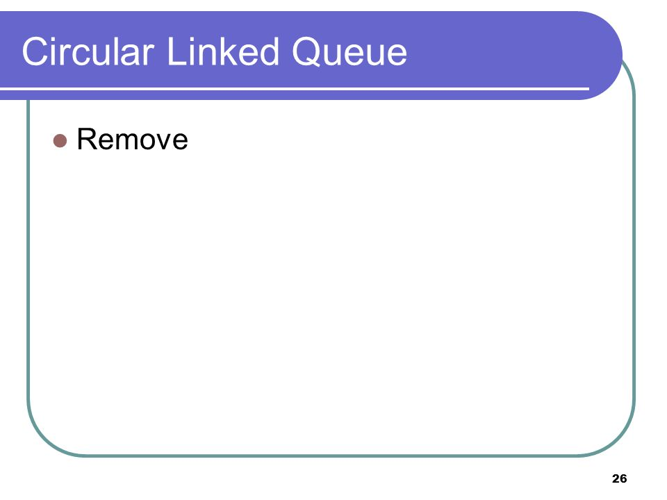 26 Circular Linked Queue Remove