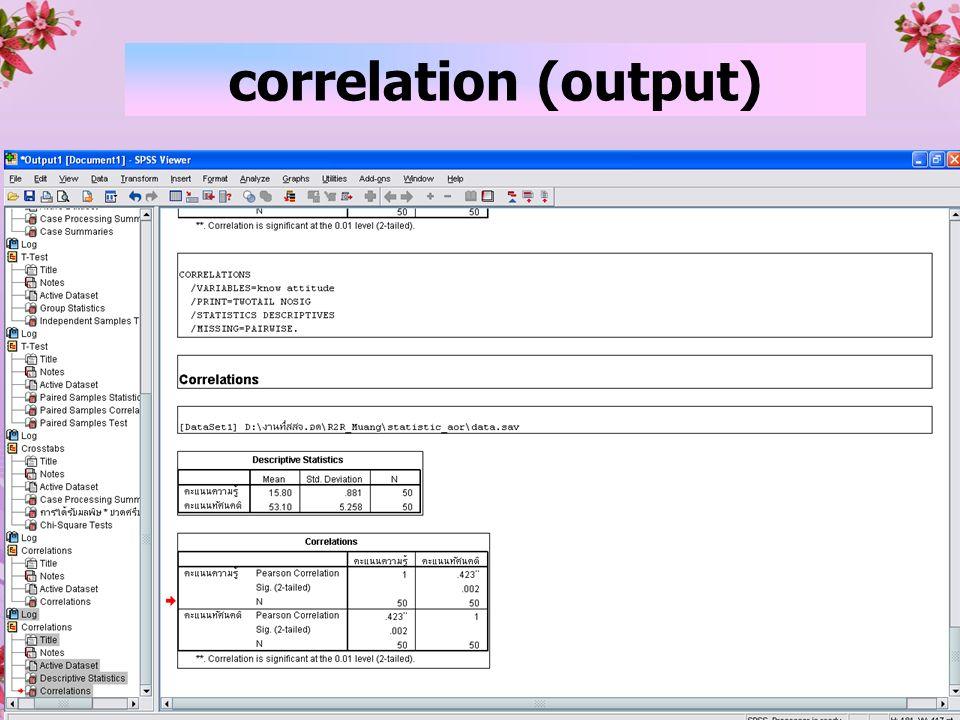 39 correlation (output)
