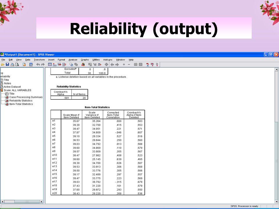 41 Reliability (output)