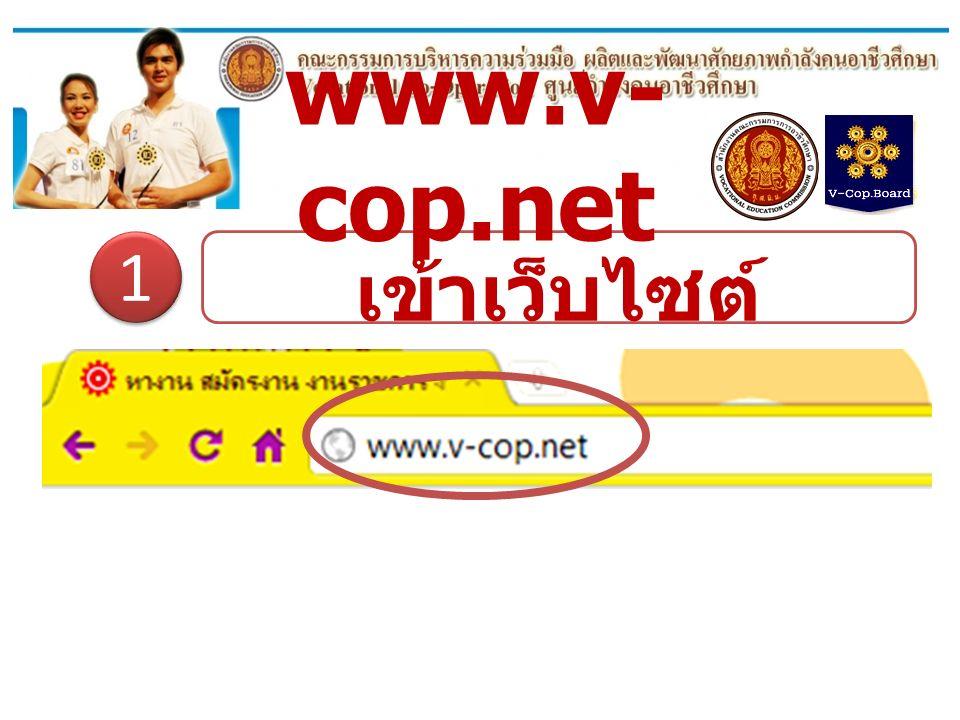 เข้าเว็บไซต์ www.v-cop.net www.v- cop.net 1 1