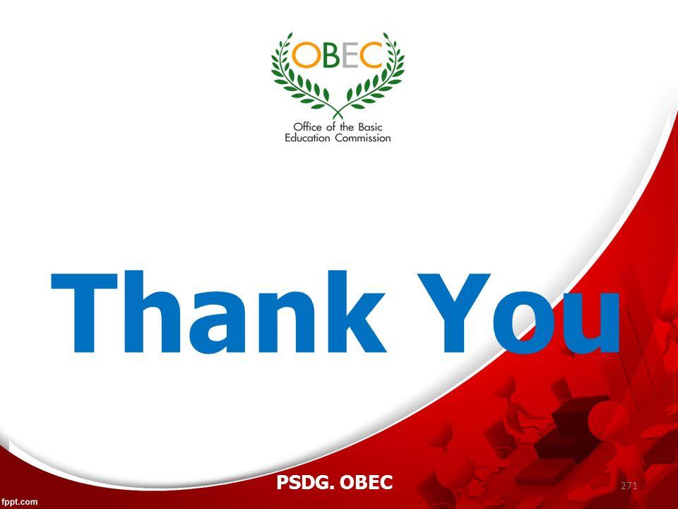 271 PSDG. OBEC Thank You