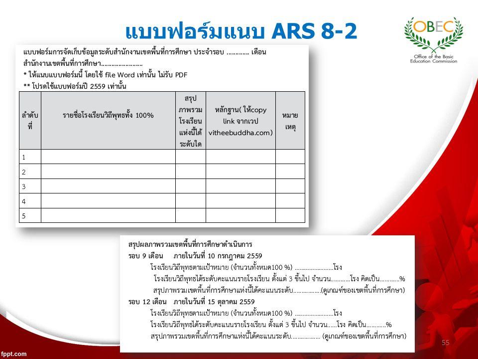 แบบฟอร์มแนบ ARS 8-2 55