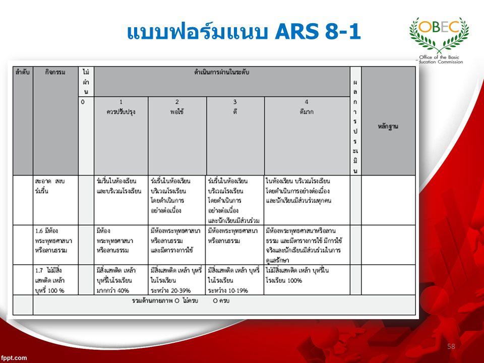 58 แบบฟอร์มแนบ ARS 8-1