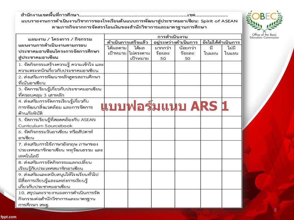 8 แบบฟอร์มแนบ ARS 1