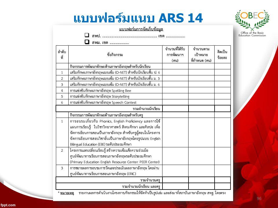 แบบฟอร์มแนบ ARS 14 96