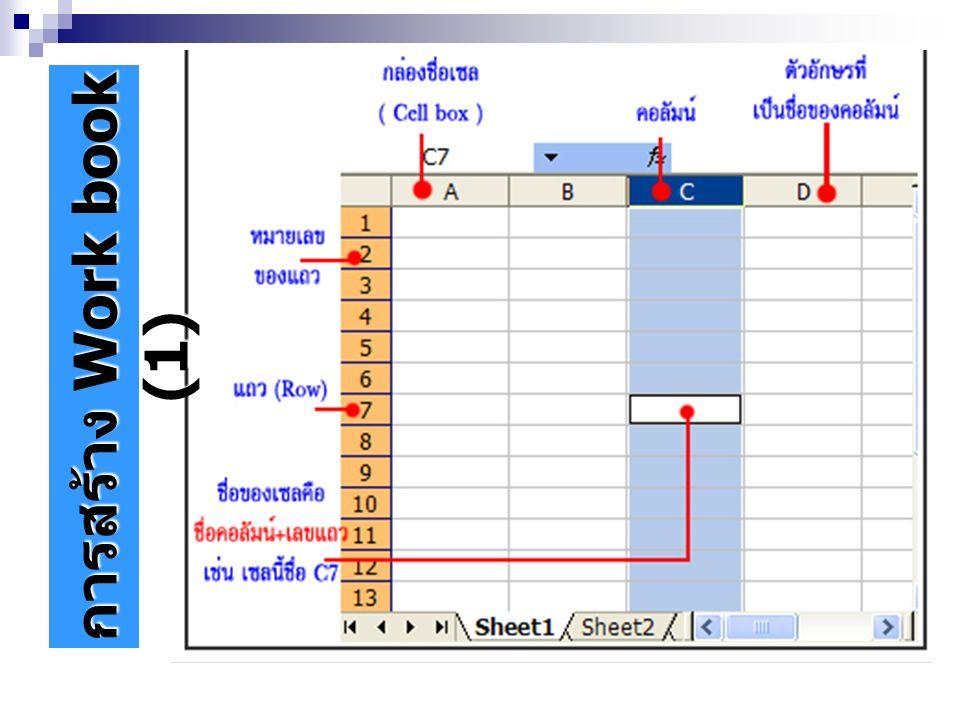 การสร้าง Work book (1)