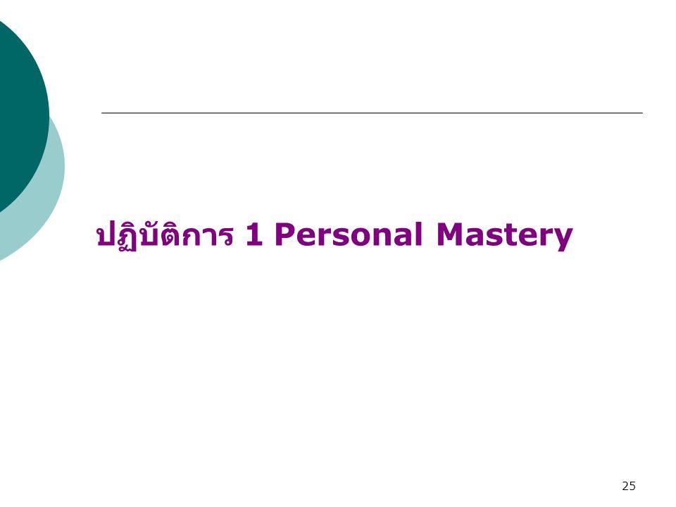 25 ปฏิบัติการ 1 Personal Mastery