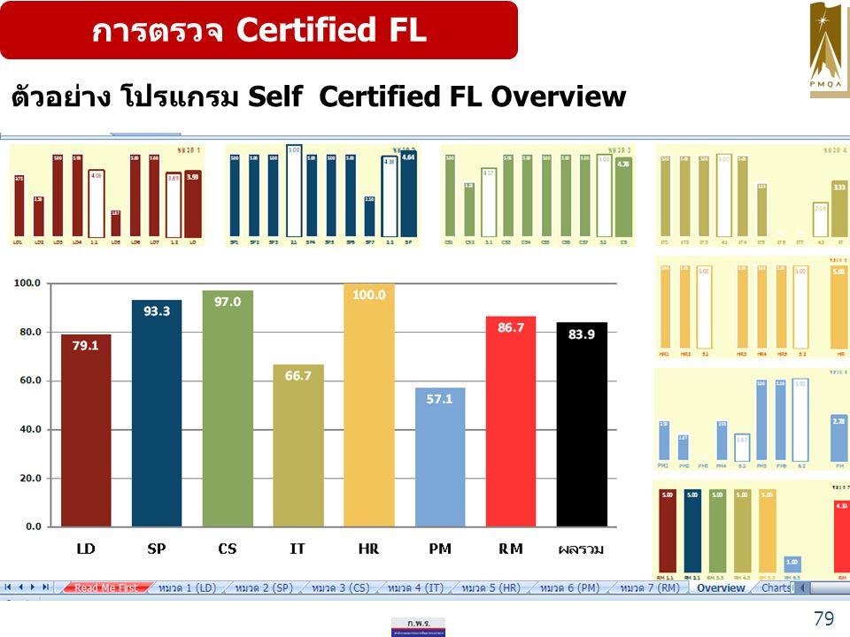 การตรวจ Certified FL ตัวอย่าง โปรแกรม Self Certified FL Overview 79
