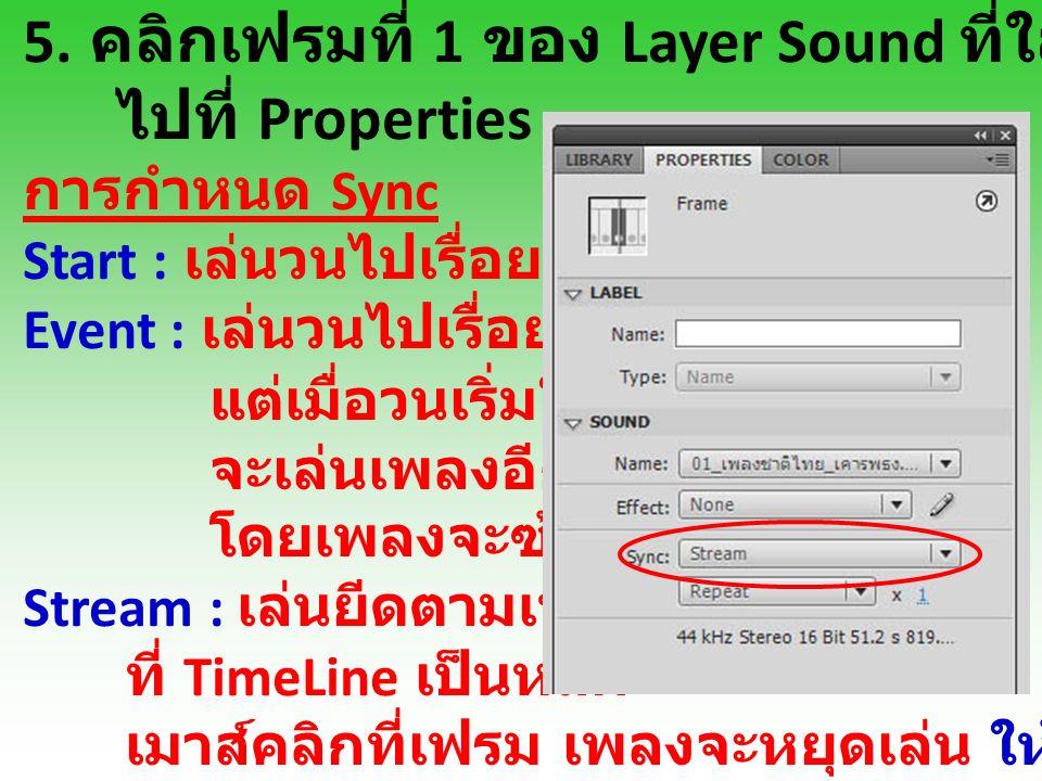 6. สร้าง Layer ข้อความ เพื่อใส่ข้อความ เนื้อเพลงลงไป