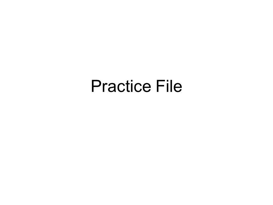 Practice File