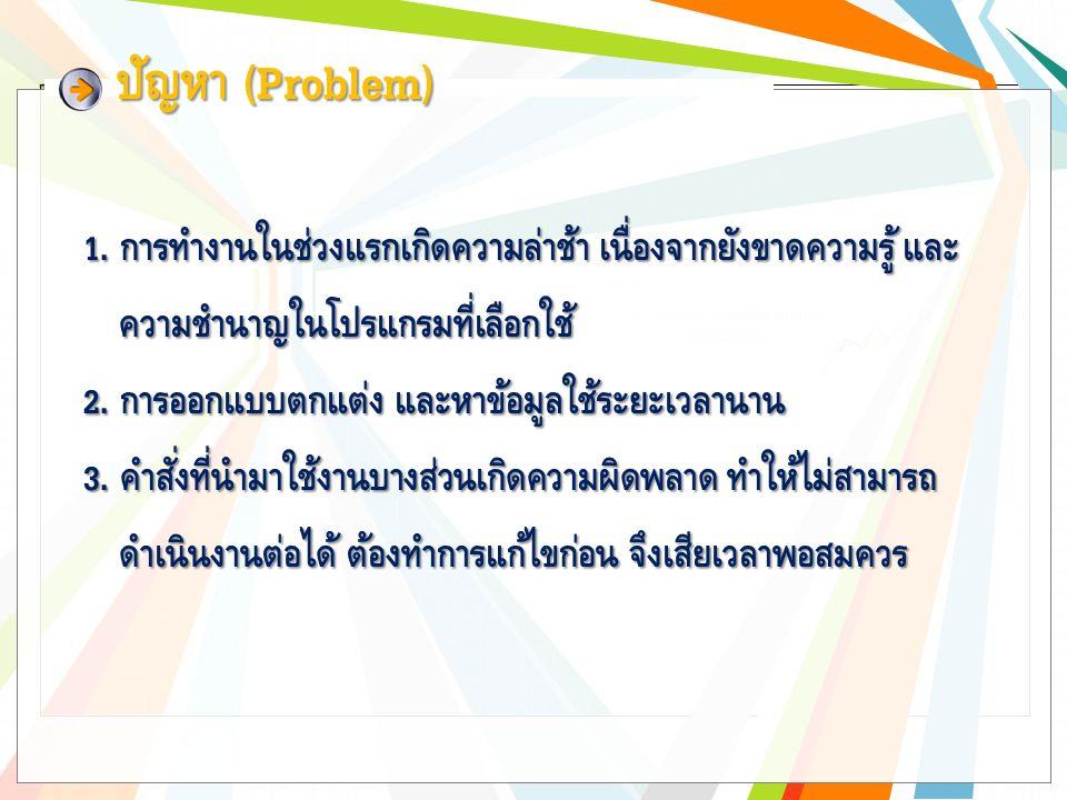 ปัญหา (Problem) 1.
