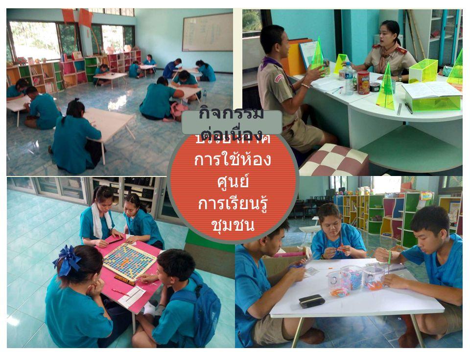บรรยากาศ การใช้ห้อง ศูนย์ การเรียนรู้ ชุมชน กิจกรรม ต่อเนื่อง