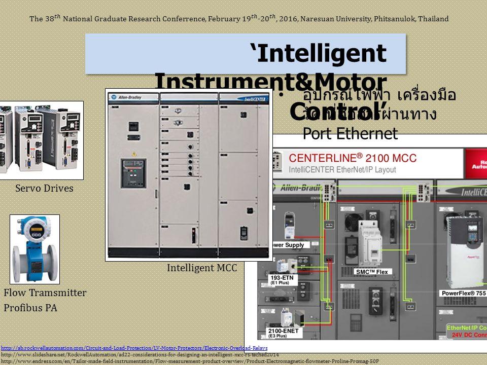 'Intelligent Instrument&Motor Control' Servo Drives Flow Tramsmitter Profibus PA Intelligent MCC อุปกรณ์ไฟฟ้า เครื่องมือ วัด ที่สื่อสารผ่านทาง Port Et