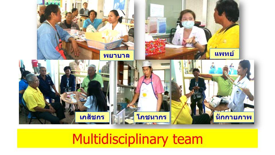 พยาบาล แพทย์ เภสัชกรโภชนากรนักกายภาพ Multidisciplinary team
