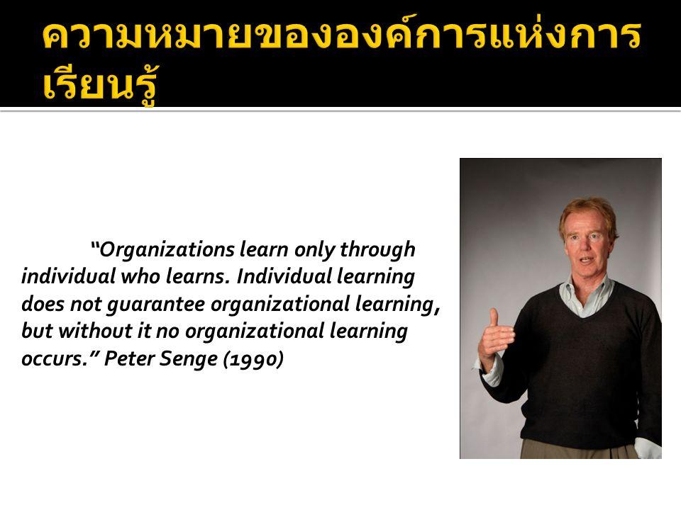องค์การแห่งการ เรียนรู้ (Learning Organization: LO) แบบแผน ความคิด (Mental Model) สร้าง วิสัยทัศน์ ร่วม (Shared Vision) เรียนรู้เป็น ทีม (Team Learning) มุ่งมั่นสู่ความ เป็นเลิศ (Personal Mastery) คิดเชิงระบบ (System Thinking)