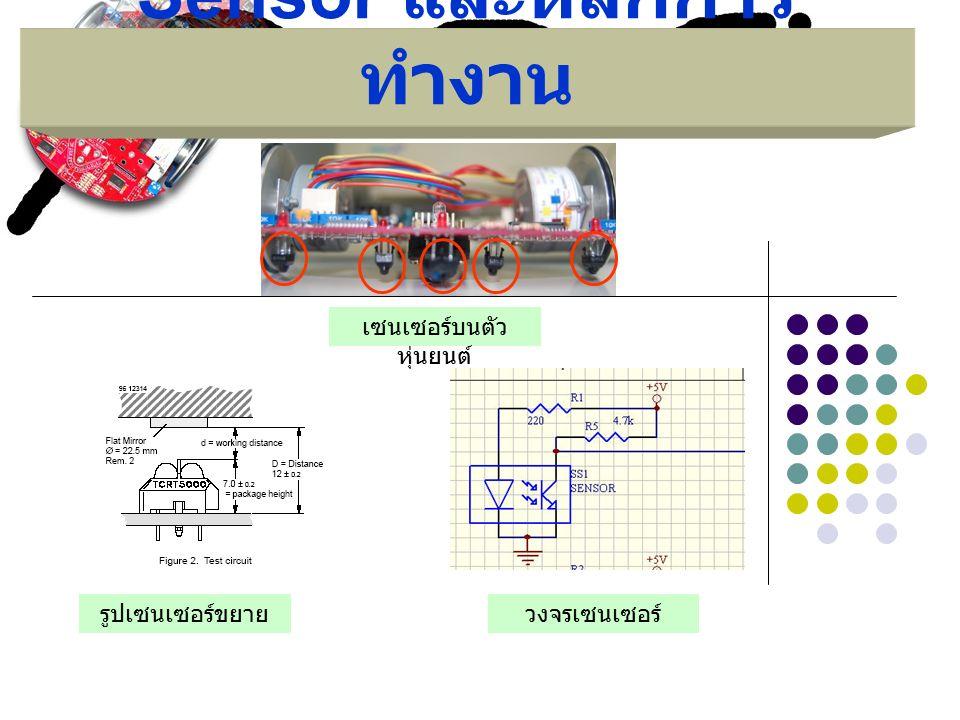 Sensor และหลักการ ทำงาน เซนเซอร์บนตัว หุ่นยนต์ รูปเซนเซอร์ขยายวงจรเซนเซอร์