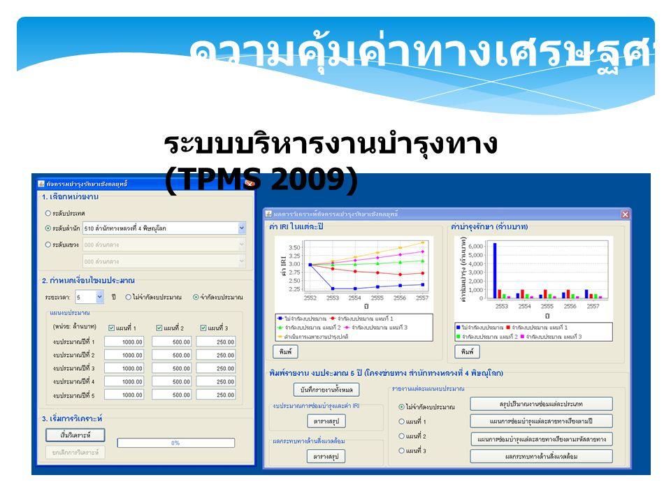ความคุ้มค่าทางเศรษฐศาสตร์ ระบบบริหารงานบำรุงทาง (TPMS 2009)
