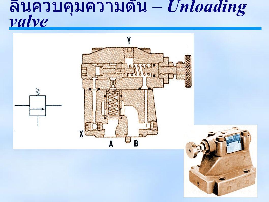 ลิ้นควบคุมความดัน – Unloading valve