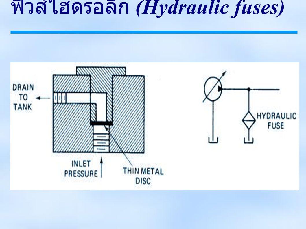 ฟิวส์ไฮดรอลิก (Hydraulic fuses)