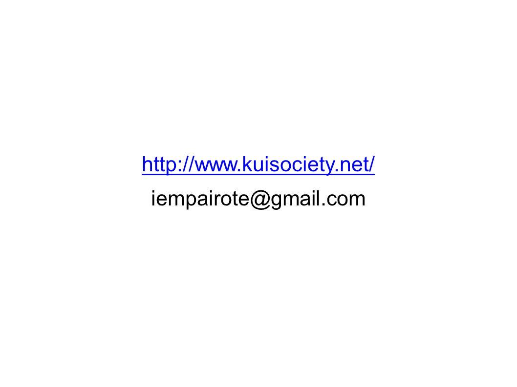 http://www.kuisociety.net/ iempairote@gmail.com