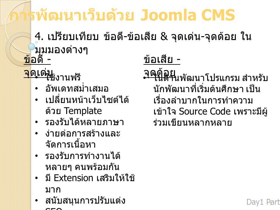 การพัฒนาเว็บด้วย Joomla CMS 4.