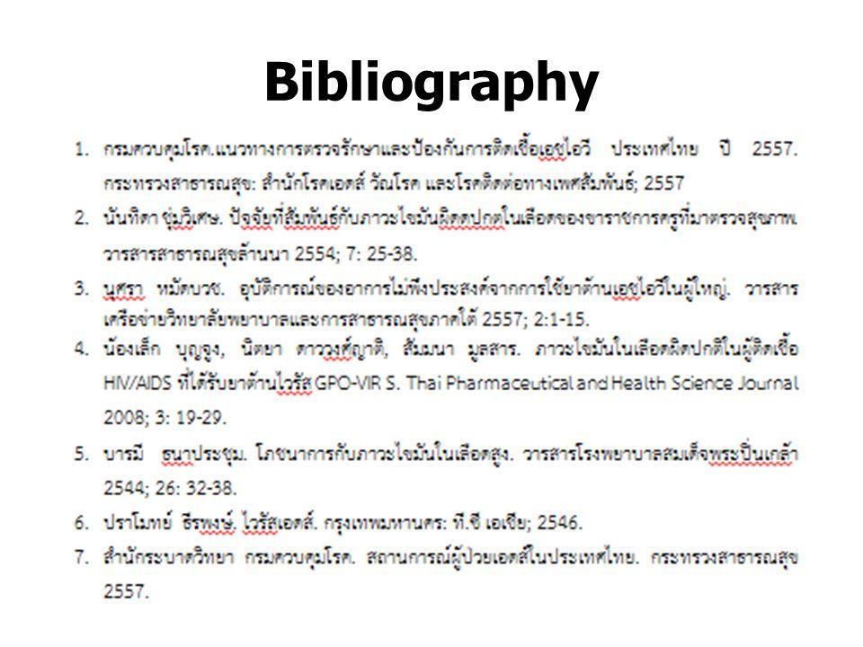 Bibliography งานเภสัชกรรม ปฐมภูมิ