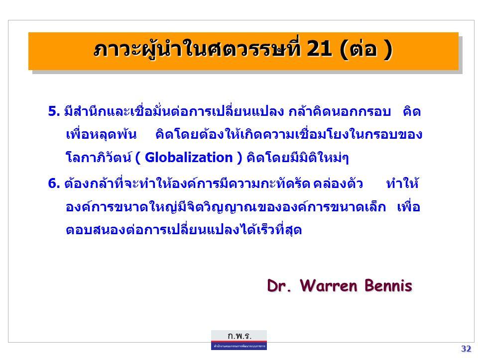 31 31 ภาวะผู้นำในศตวรรษที่ 21 1.