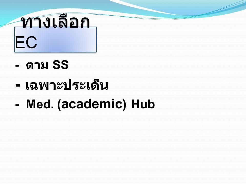 ทางเลือก EC - ตาม SS - เฉพาะประเด็น - Med. ( academic ) Hub