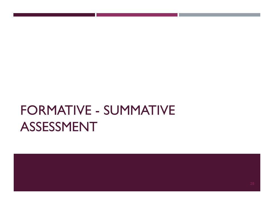 FORMATIVE - SUMMATIVE ASSESSMENT 28