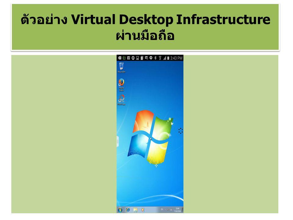 ตัวอย่าง Virtual Desktop Infrastructure ผ่านมือถือ