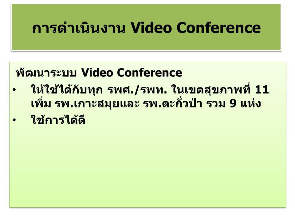 พัฒนาระบบ Video Conference ให้ใช้ได้กับทุก รพศ./รพท.