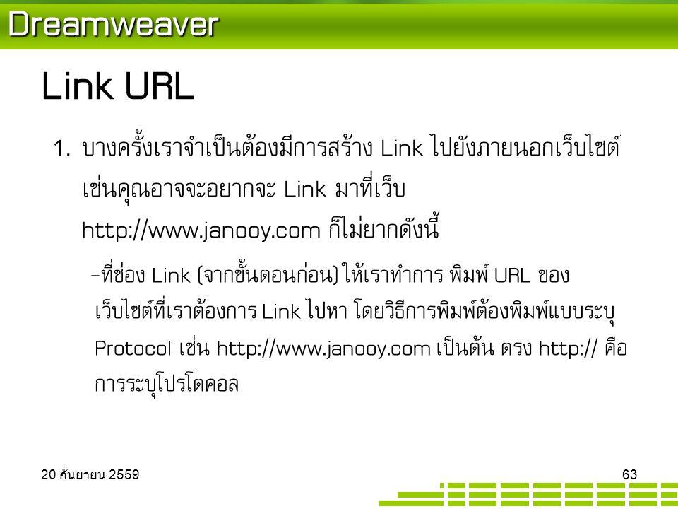 Dreamweaver Link URL 1.