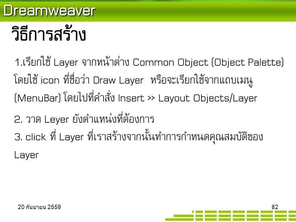 Dreamweaver วิธีการสร้าง 1.