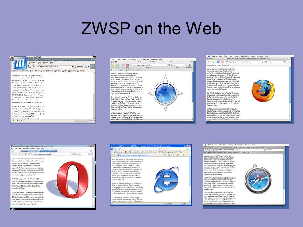 ZWSP on the Web