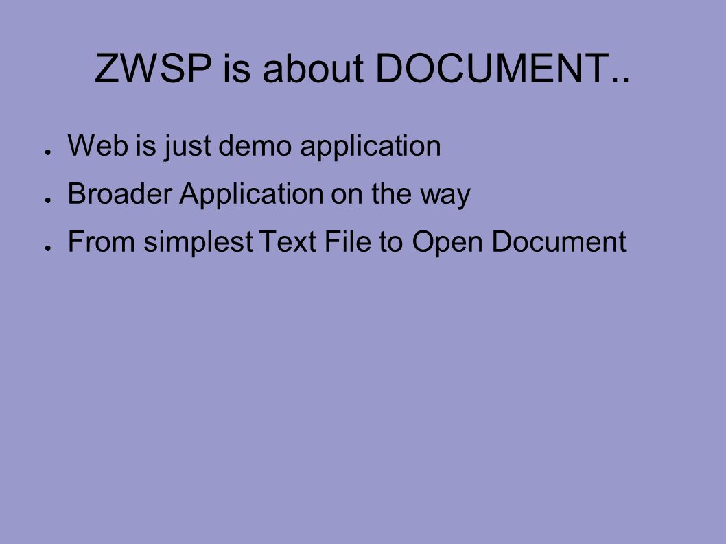 ZWSP is about DOCUMENT..