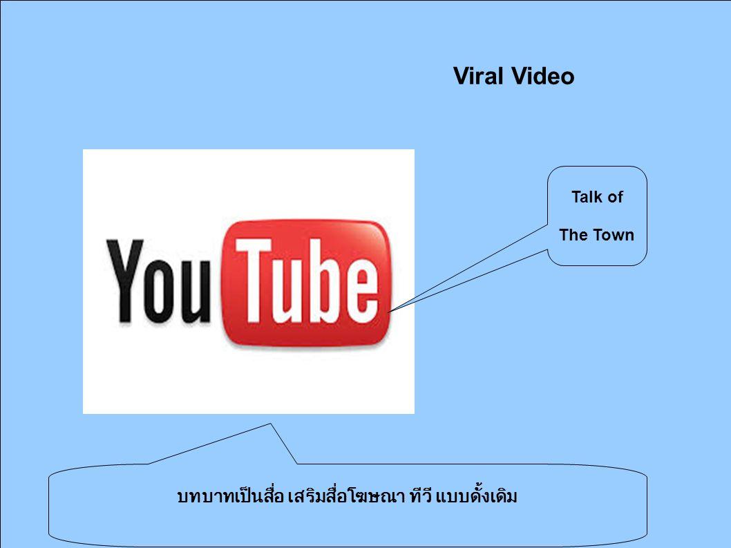 Viral Video บทบาทเป็นสื่อ เสริมสื่อโฆษณา ทีวี แบบดั้งเดิม Talk of The Town
