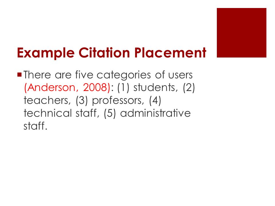  There are five categories of users (Anderson, 2008): (1) students, (2) teachers, (3) professors, (4) technical staff, (5) administrative staff.