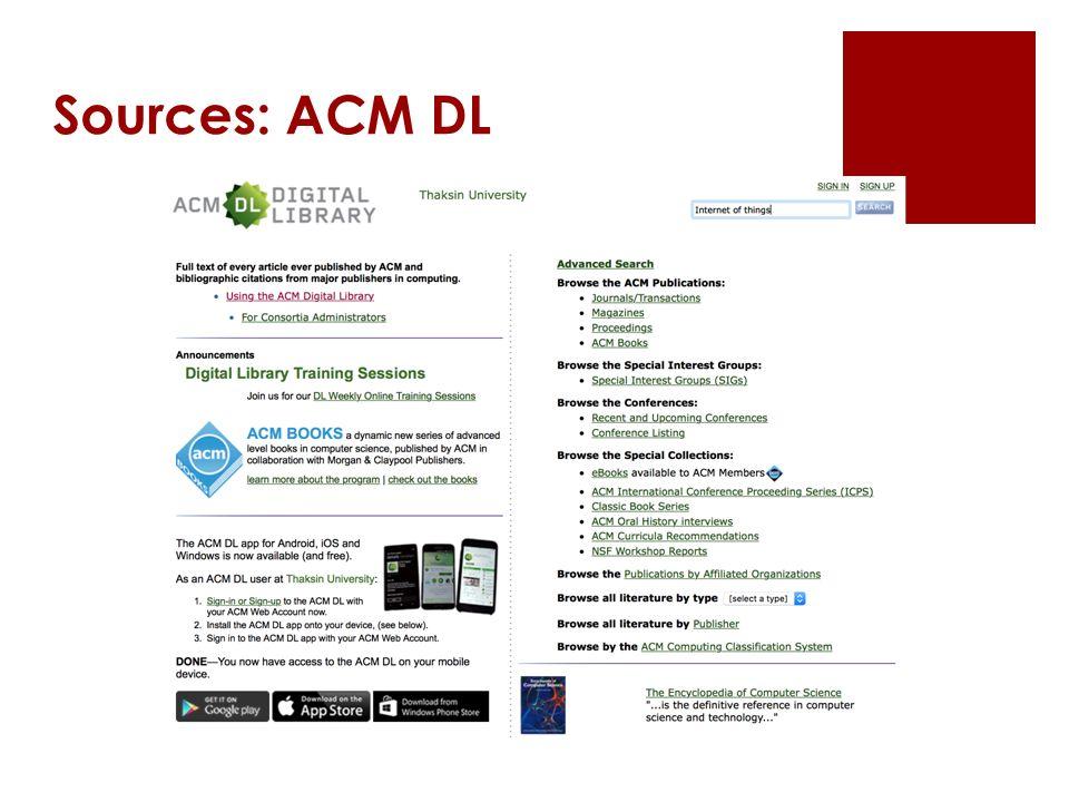 Sources: ACM DL