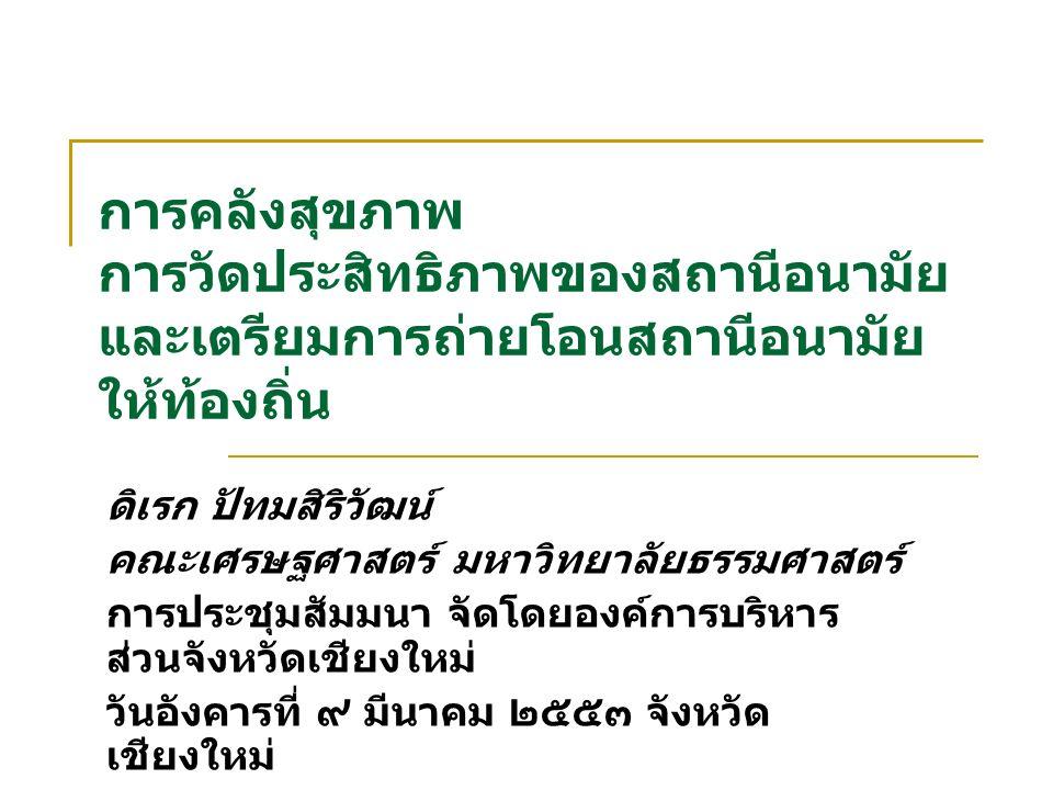21/09/592 การสร้างเสริมสุขภาพประชาชนและ บทบาทของ อปท.