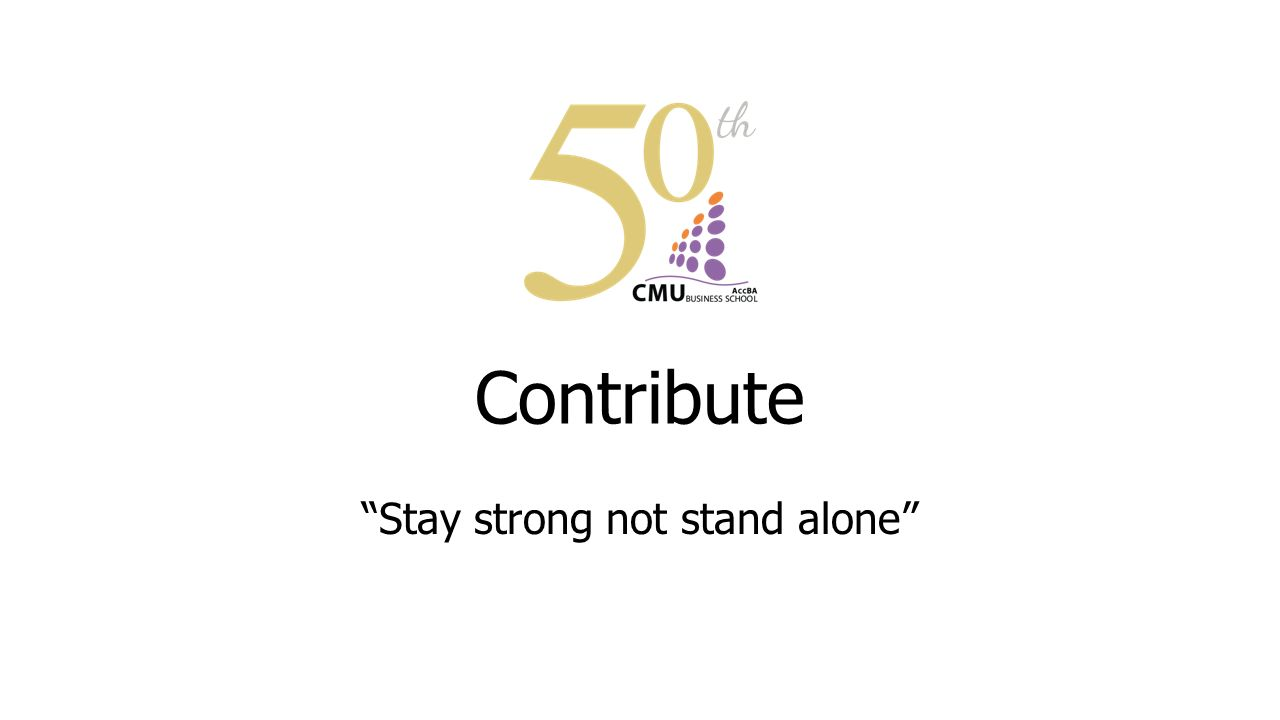 "Contribute ""Stay strong not stand alone"""