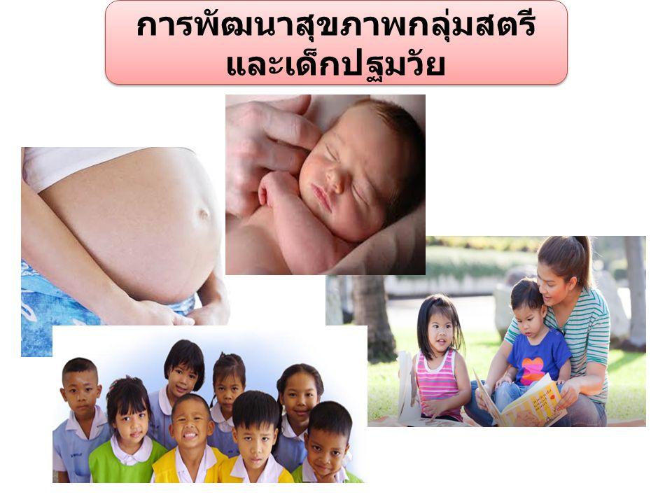 การพัฒนาสุขภาพกลุ่มสตรี และเด็กปฐมวัย