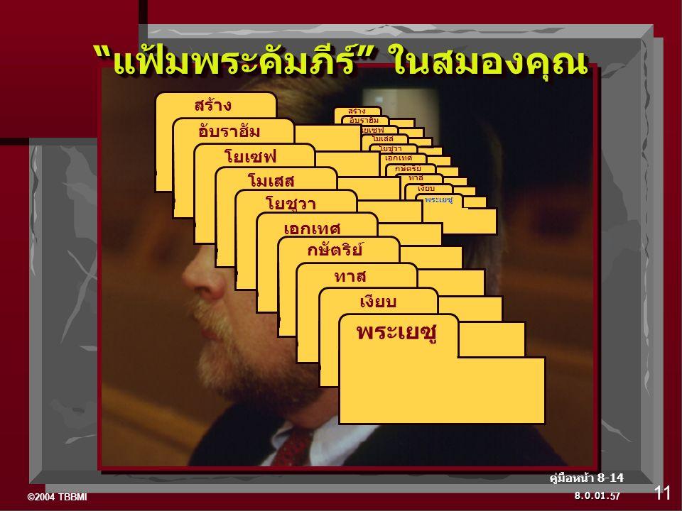 """©2004 TBBMI 8.0.01. ABRAHAM สร้าง ABRAHAM อับราฮัม ABRAHAM โยเซฟ โมเสส โยชูวา เอกเทศ กษัตริย์ ทาส เงียบ พระเยซู """"แฟ้มพระคัมภีร์"""" ในสมองคุณ สร้าง อับรา"""